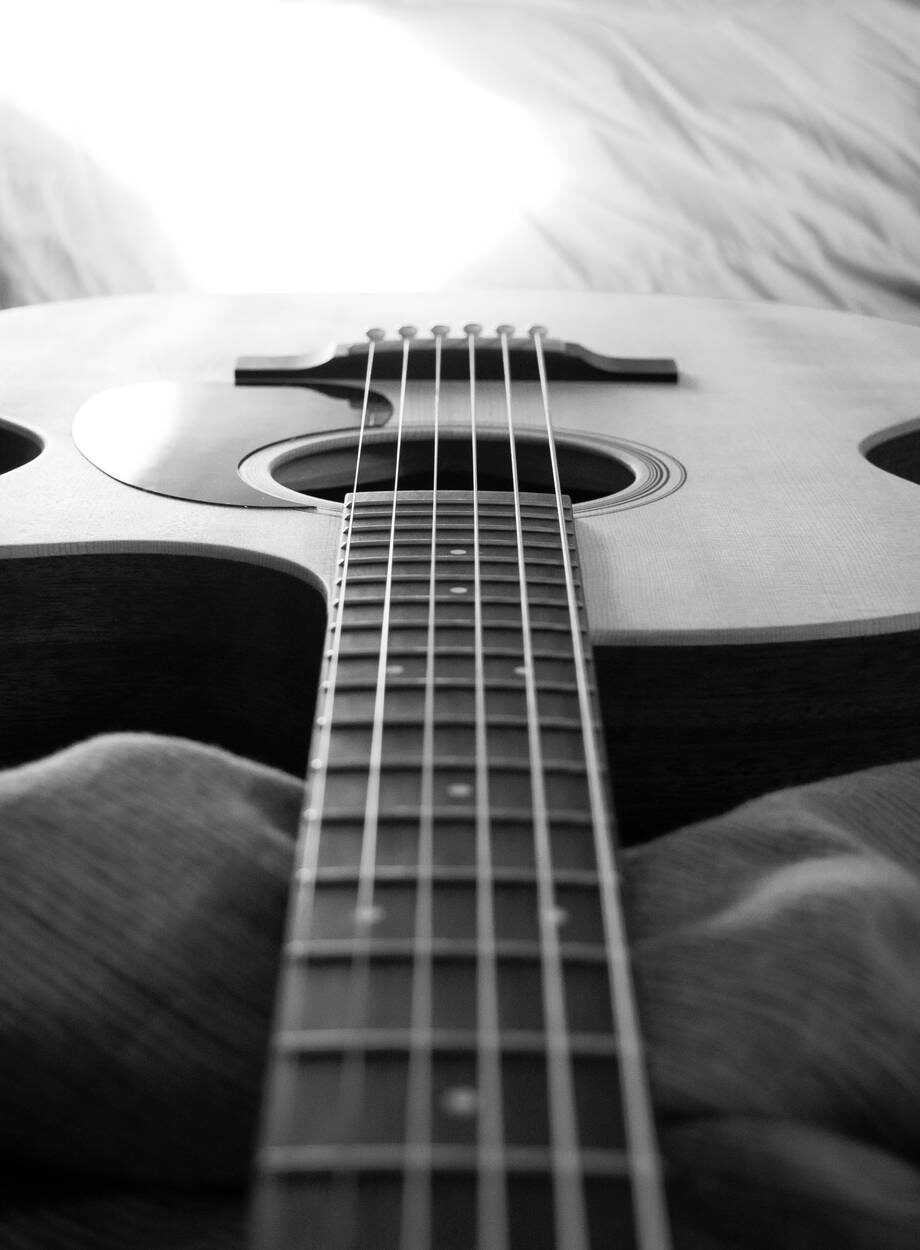 wood black and white music musician