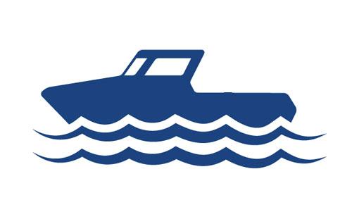 boat on lake icon