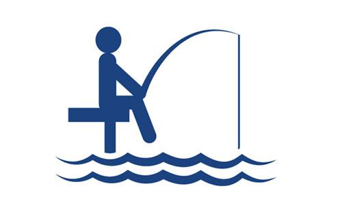 icon of figure fishing