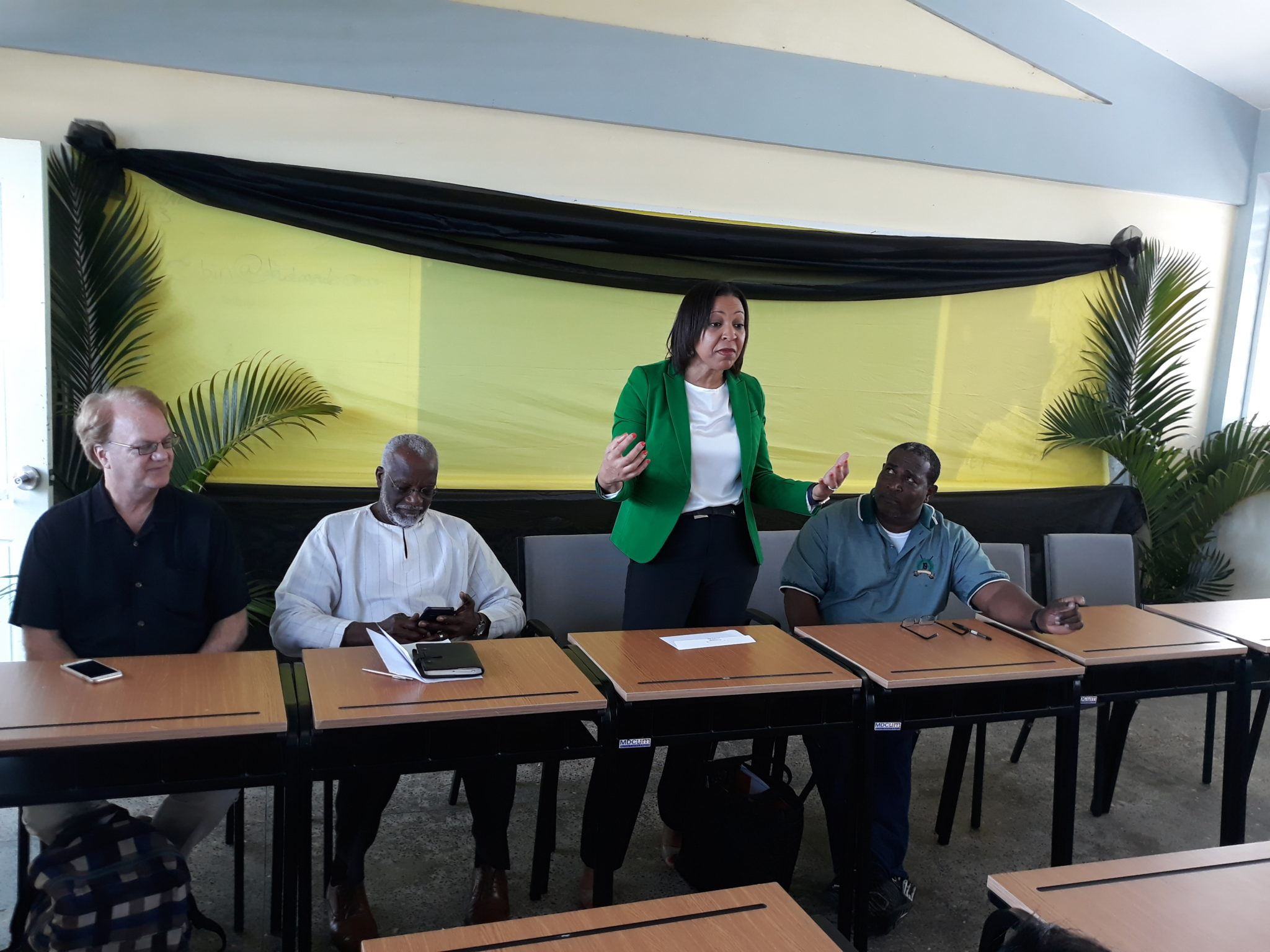 OAS Delegation Visited The Portsmouth Secondary School
