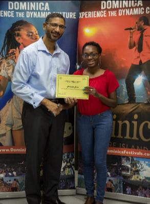Melinda Lowe wins with Taste of Dominica