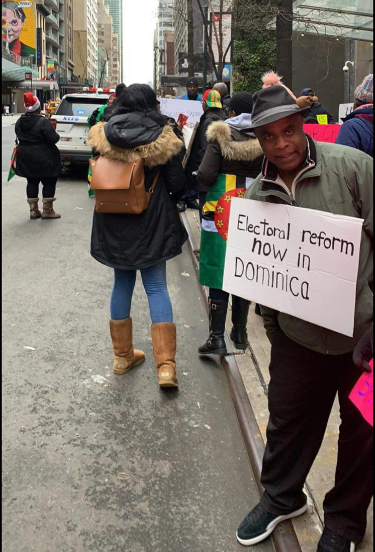 Protest For Electoral Reform In Dominica Hits New York City