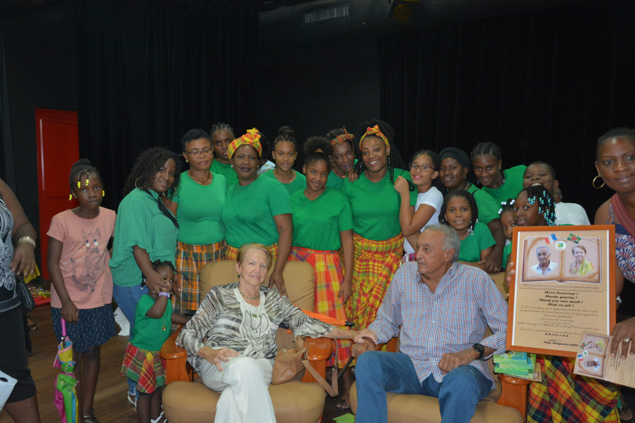Dominicans In Guadeloupe Expressing Gratitude