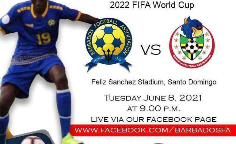 A Third place finish in Group D of the Concacaf World Cup Qualifiers will be on the line on Tuesday as Dominica plays Barbados in its final World Cup Qualifying Match