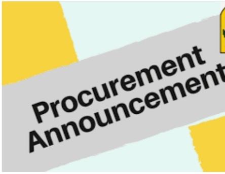 ANNOUNCEMENT: Procurement notice (request for bids) for EALCRP