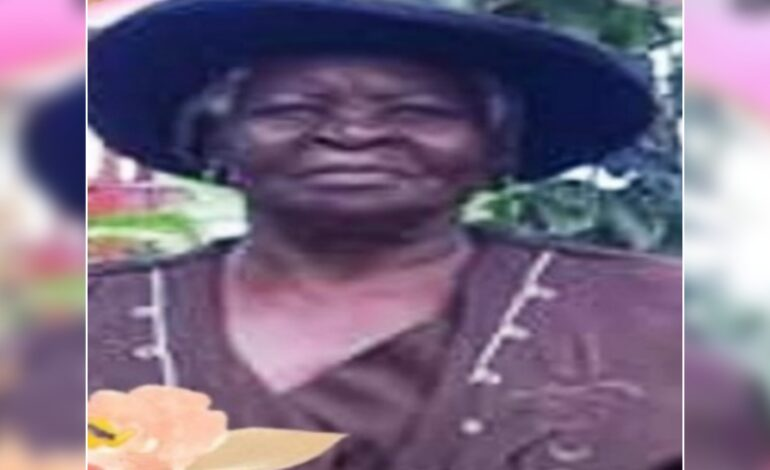 Death announcement of 85 year old Rose Cuffy of Grand Fond
