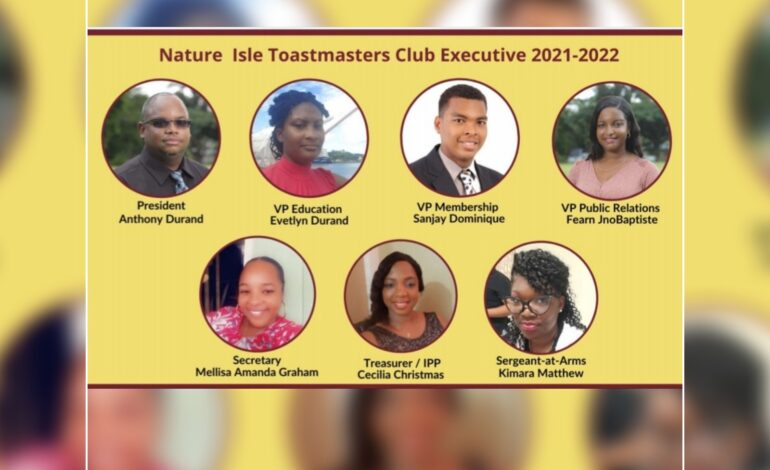 Nature Isle Toast Masters Club Elects New Executive