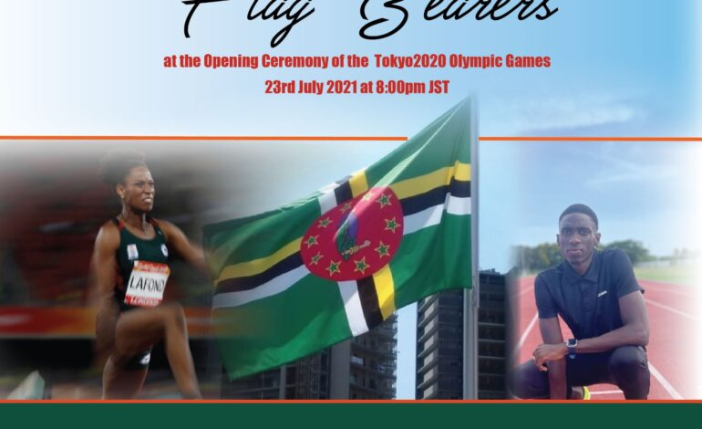 Dominica Athletes to be flag bearers during opening of the 2020 Tokyo Olympic Games