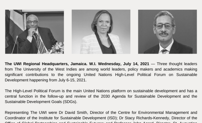UWI thought leaders add Caribbean voice to UN High-Level Political Forum