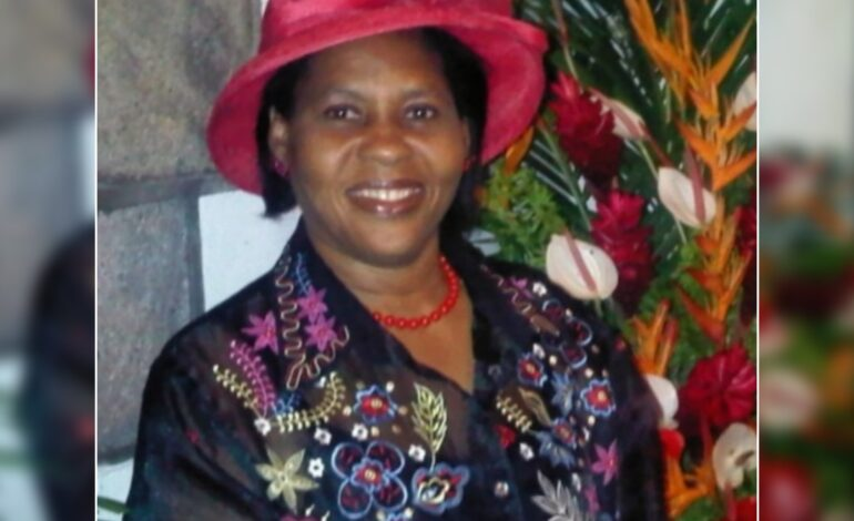 Death Announcement of 63 year old Bernadette Commodore nee Charles of Morne Prosper
