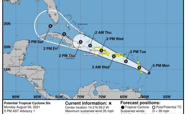 Tropical Storm Watch Issued for Dominica
