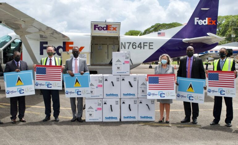 United States Delivers 52,650 Pfizer Vaccines to Saint Lucia