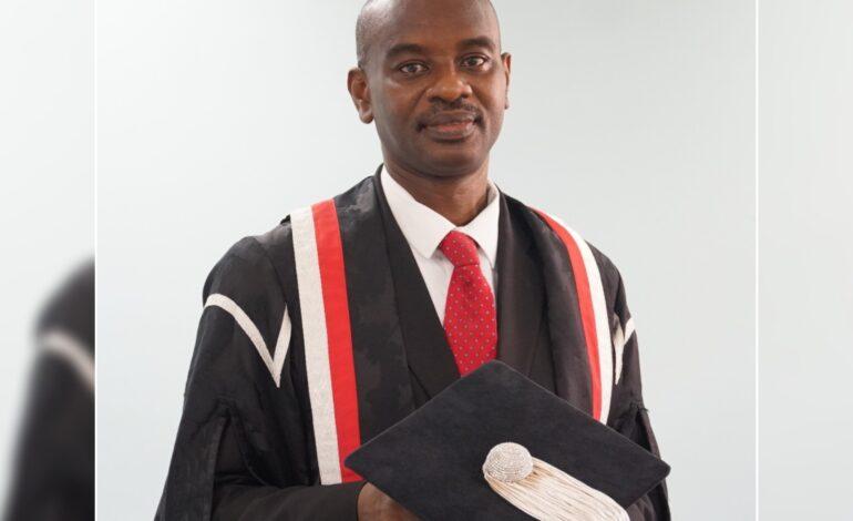 Professor C. Justin Robinson is new Pro Vice-Chancellor for The UWI Board for Undergraduate Studies