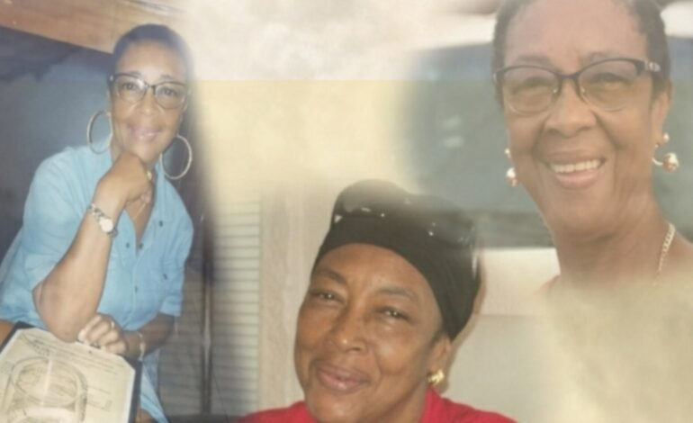 Death Annoucement of 67 year old Christine Pharoah of Montine Grand Bay who resided in Melvine Battery and most recently St Thomas