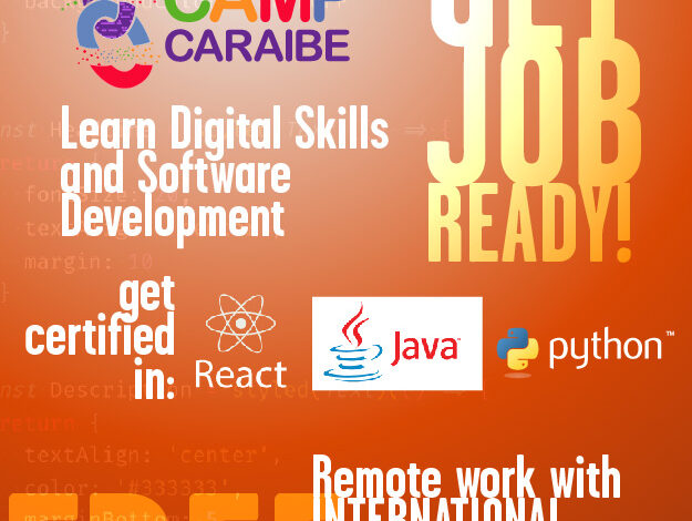 Free Digital and Software Development  Skills With CODE CAMP CARAIBE