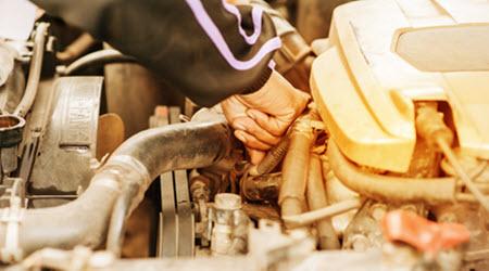 Mercedes Coolant Hose Leak Check