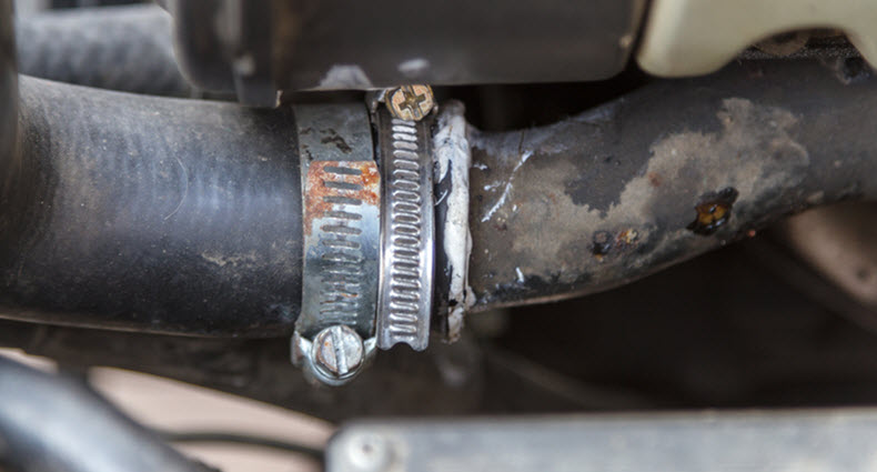 Mercedes Coolant Hose Leak