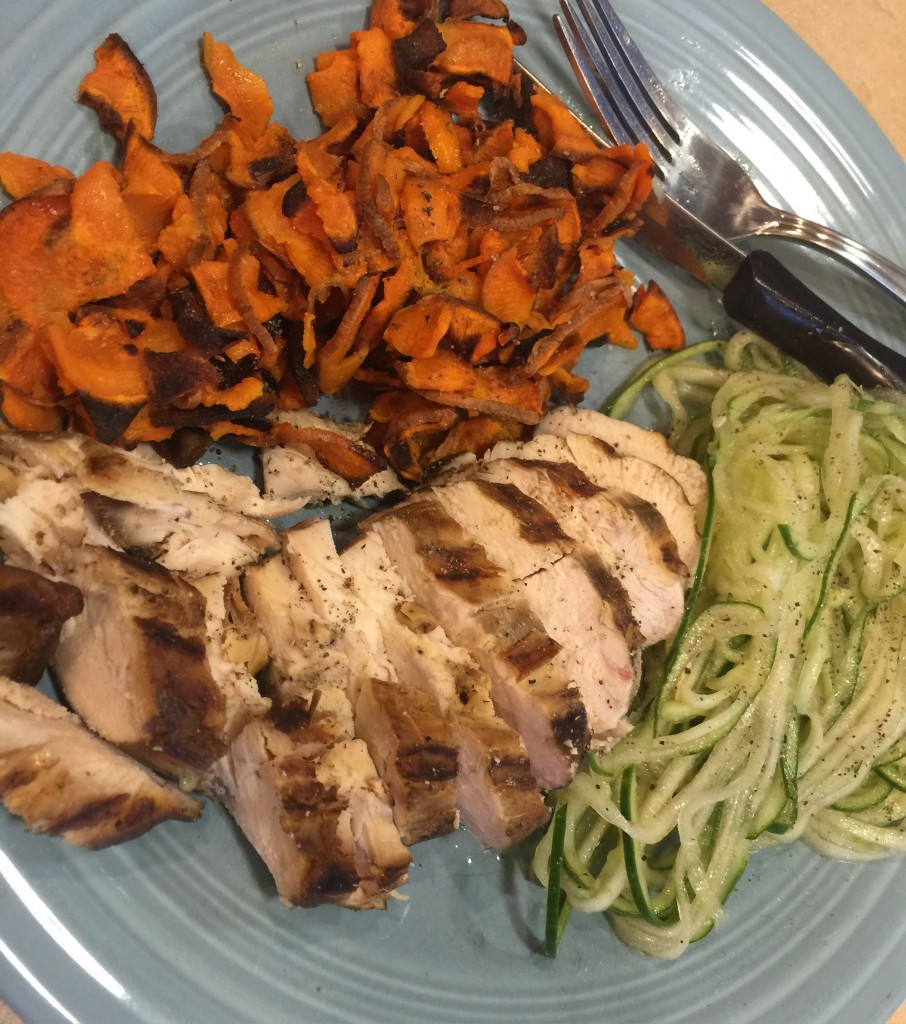 Out of the Box Eat by Color Salad, Chicken and Sweet Potato