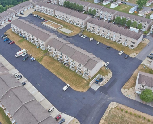 Graycliff Luxury Townhomes Aerial View