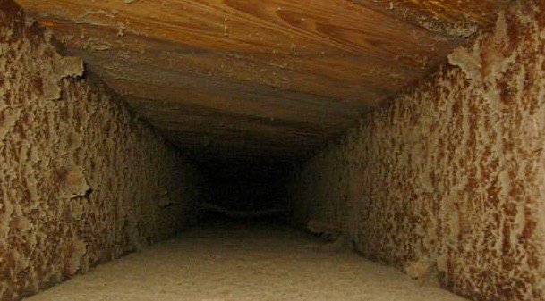 Dust in Wooden Duct Vent