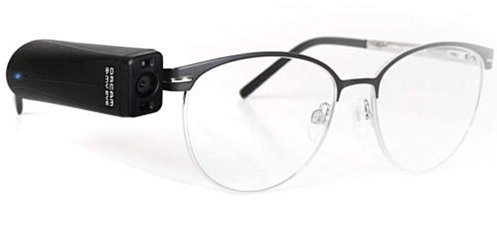 OrCam MyEye Pro on glasses