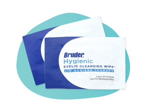 Bruder Hygienic Cleansing Wipes for optometry surgery prep