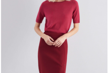Lafayette 148 - Sequin Trim Tee and Lucina Skirt