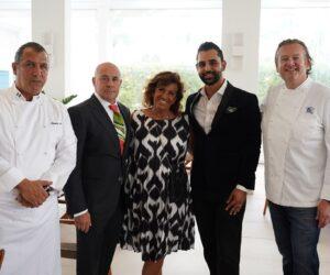 Chef Claudio Lobina, Michele Merlo, Tullia Gasporotto, Rishi Idnani, Chef Michael White