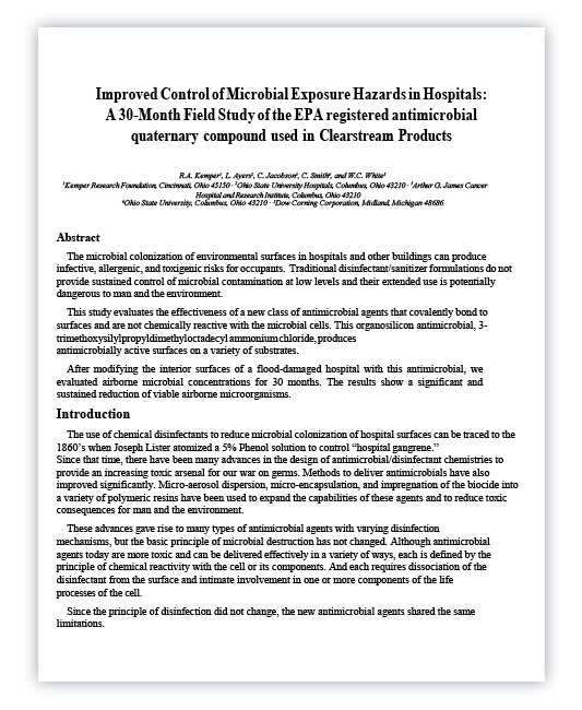DMT Mobile Antimicrobials 30 Month Study