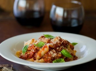 PAPPARDELLE PASTA WITH BOLOGNESE SAUCE