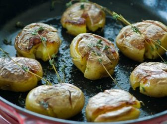 Smashed Yukon Gold Potatoes