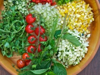 From Market to Table!Garden Chopped  Salad