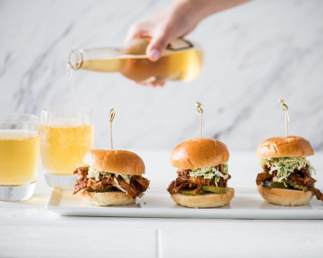 MEMORIAL DAY!  SMOKIN' BBQ PULLED CHICKEN SLIDERS WITH CREAMY COLE SLAW!