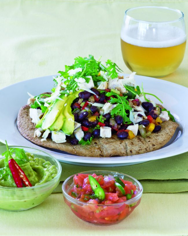 Chicken Tostada Salad!  Healthy choice for Breakfast, Lunch or Dinner!