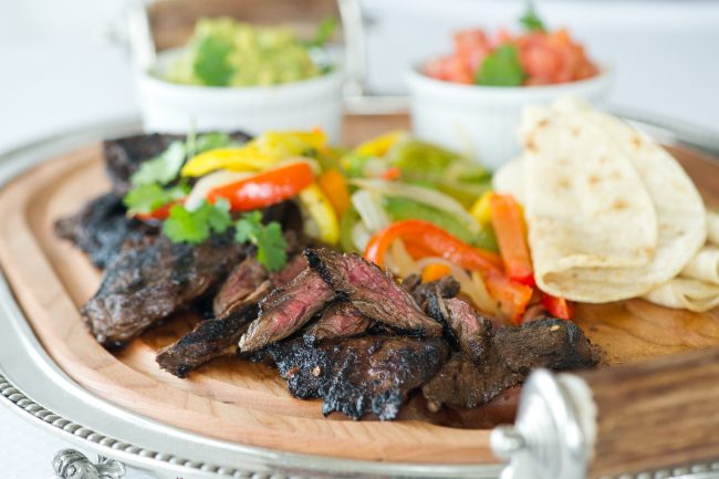 FATHER'S DAY BRUNCH, FAJITA'S! MARINADED FLANK STEAK WITH GUACAMOLE, SALSA, AND WARM TORTILLAS!