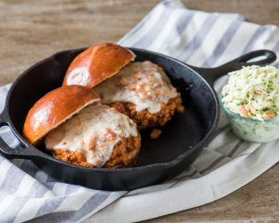SLOPPY JOE WITH CREAMY COLE SLAW!
