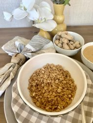 IT'S OFFICIAL! OUR NEXT FLOURISH GRANOLA FOR THE FALL IS PEANUT BUTTER!
