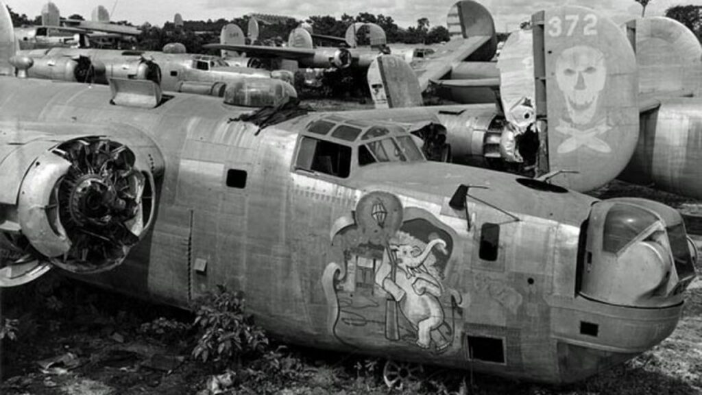 B-24 in boneyard