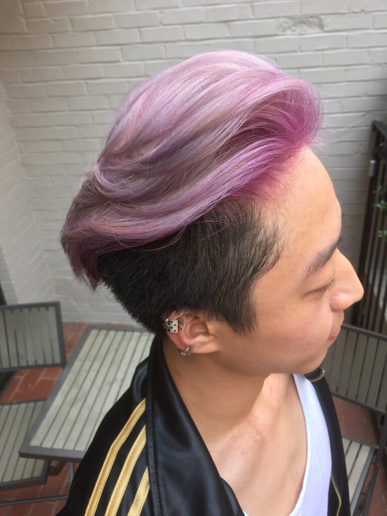 Thomas Shelton's Client With Pink Fade