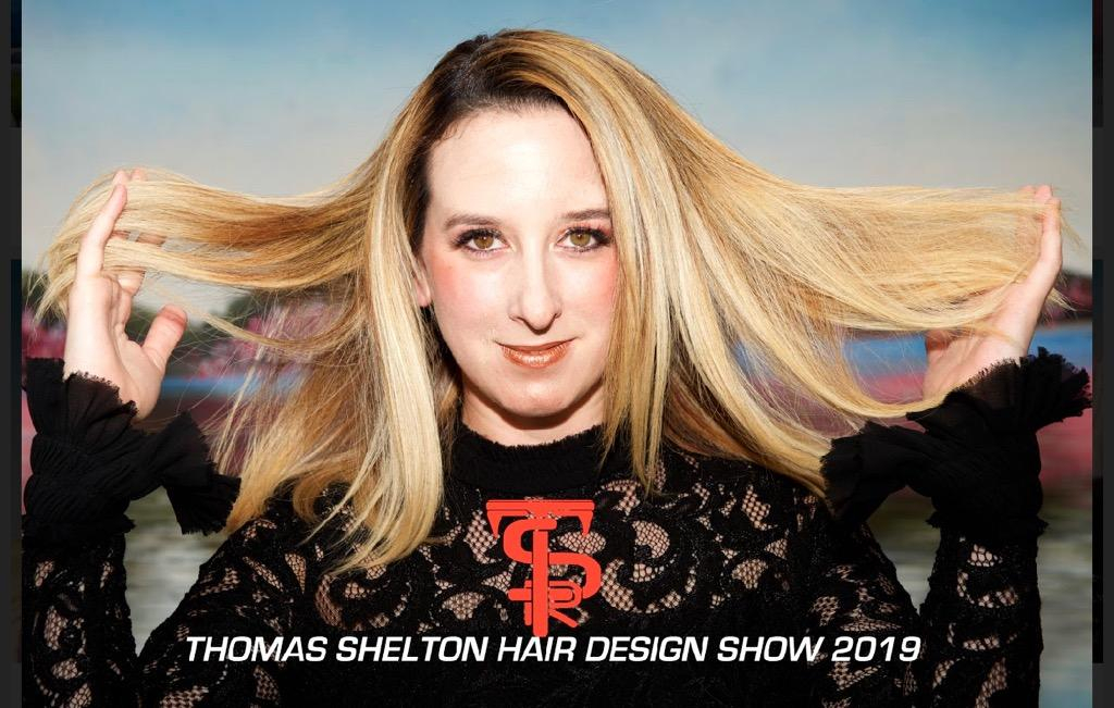 Thomas Shelton Stylist Carlos's Blond Client at Design Show