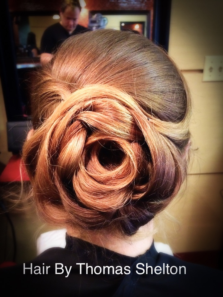Thomas Shelton's Client With Rose Up-Do