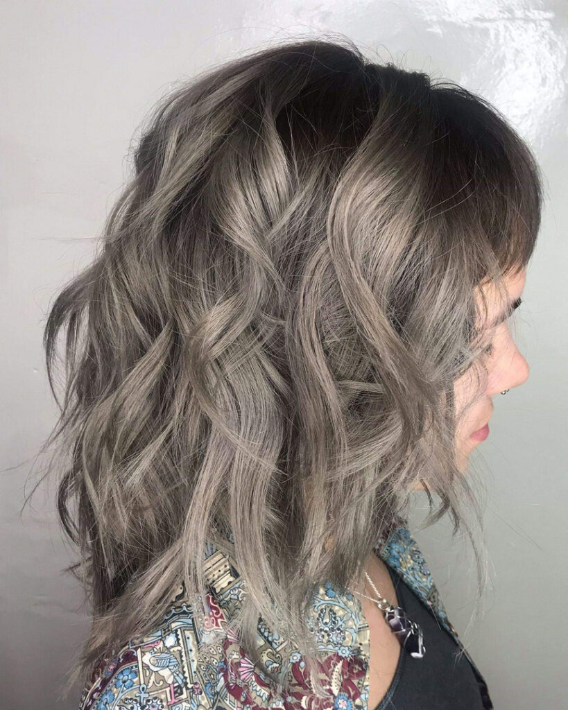 Thomas Shelton Stylist Scott's Client With Gray Brown Hair