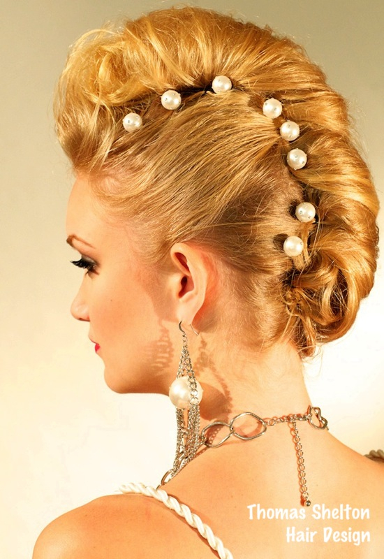 Thomas Shelton's Client With Strawberry Blond Up-Do
