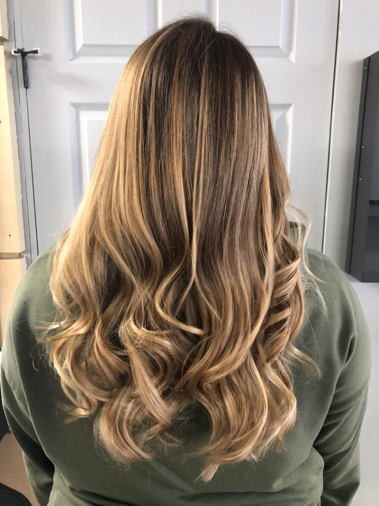 Thomas Shelton Stylist Roque's Client with Blond Highlights