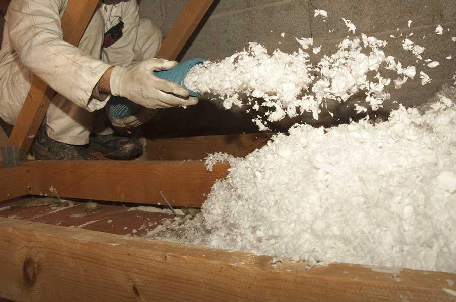 Blown Insulation - Economizer HVAC