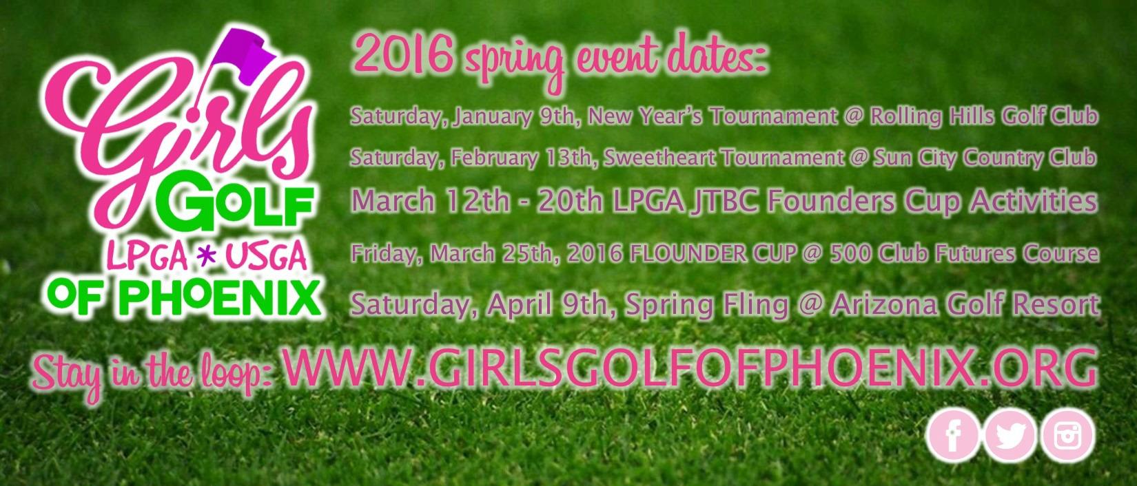 2016 Spring schedule