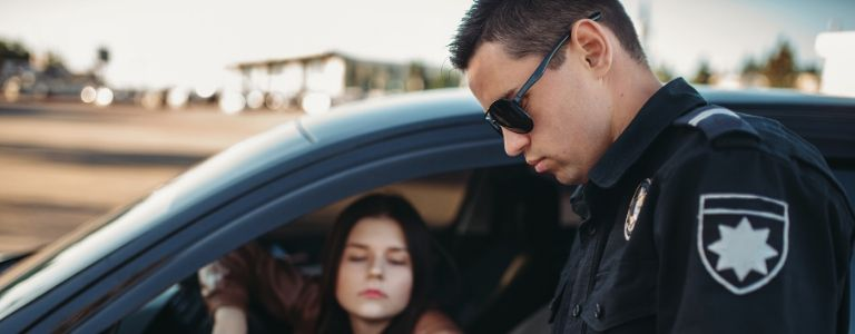 police officer with girl pulled over criminal law fargo