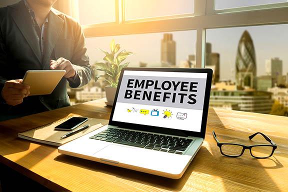 Employee Benefits Laptop Image