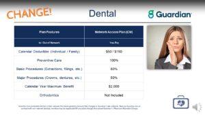 UET Dental Plan Features
