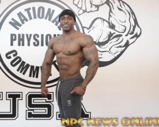 IFBB PRO League Men's Physique Pro Charjo Grant Posing Routine Practice Video At The NPC Photo Gym.